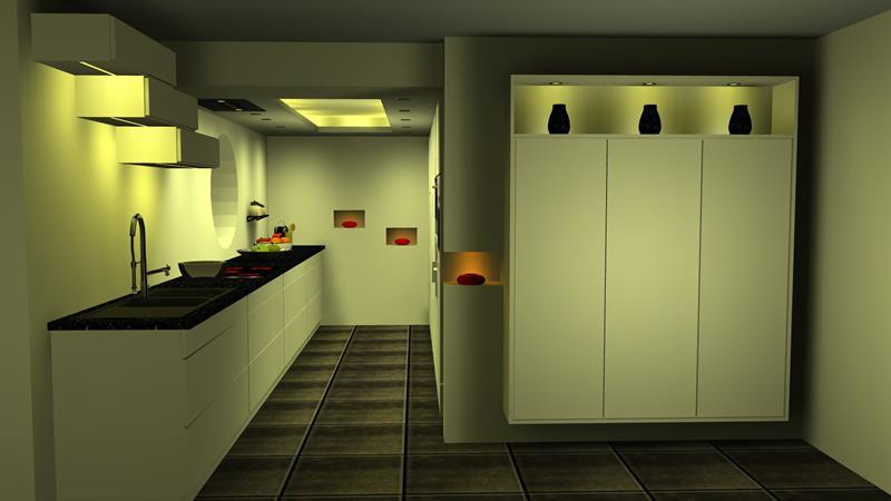 exemples de simulation de cuisines delneo. Black Bedroom Furniture Sets. Home Design Ideas