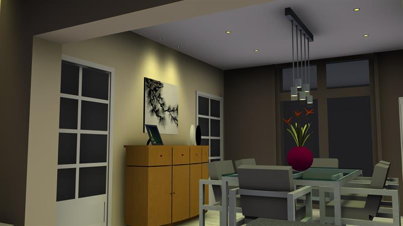 inspiration eclairage led salon et salle manger delneo. Black Bedroom Furniture Sets. Home Design Ideas