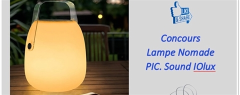 Concours Lampe Led Nomade Pic. Sound